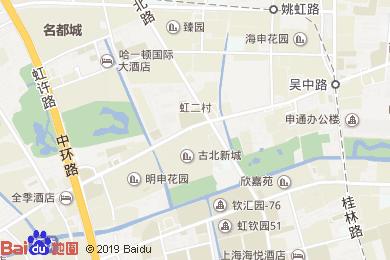 桔子水晶上海虹橋古北路酒店地圖