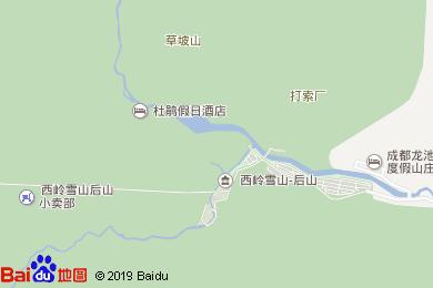西岭雪山山地度假酒店-茶亭地图