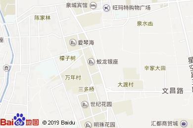 赛仑吉地大酒店中餐厅地图