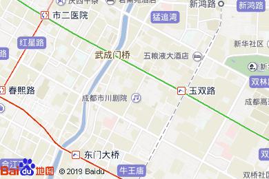 成都河畔康成酒店珑景宫地图