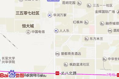 亚朵酒店餐厅(大寨路店)地图