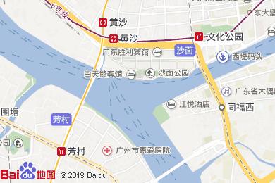 白天鵝賓館(絲綢之路西餐廳)地圖