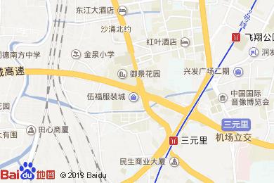逸米酒店廣州三元里地鐵站店地圖