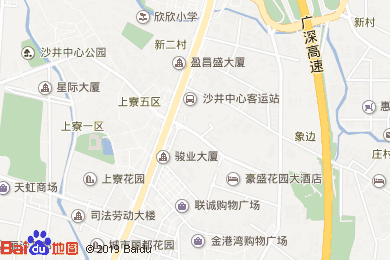 豪盛花園大酒店西餐自助餐廳地圖