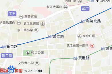 武汉亚洲大酒店中餐厅地图