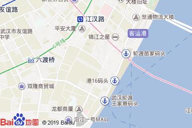 萬愛酒店江漢路步行街店地圖