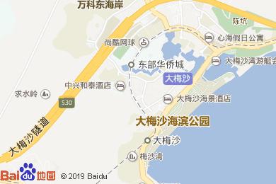 大梅沙酒景酒店海上花中西餐厅地图