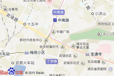 晴川假日酒店月饼(武昌自提点)地图