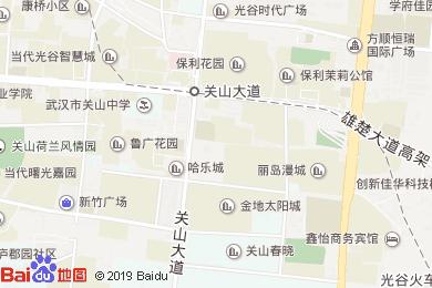 武漢艷陽景軒酒店關山店地圖