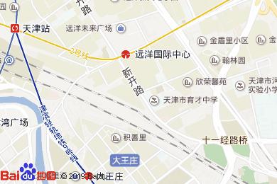 天津火車站宜必思酒店宴會廳地圖