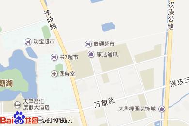 青皮树酒店早餐部地图