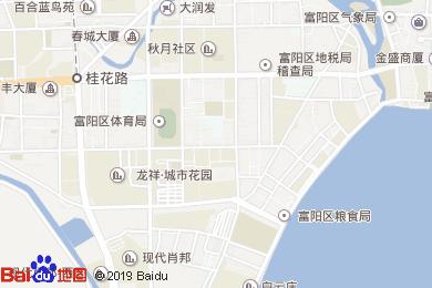 富陽國際貿易中心大酒店宴會廳地圖