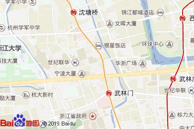 浙江新世紀大酒店風荷餐廳地圖