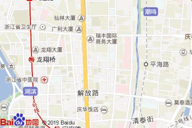 杭州中山国际大酒店宴会厅地图