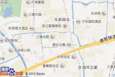 杭州眾安華納假日大酒店-大堂吧地圖