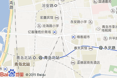 惠客來賓館滄和路店地圖
