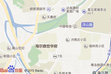 青島達翁九龍泉大酒店藍寶石大廳地圖