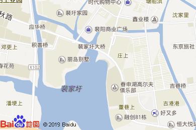 蘇州珀麗春申湖度假酒店悅和軒中餐廳地圖
